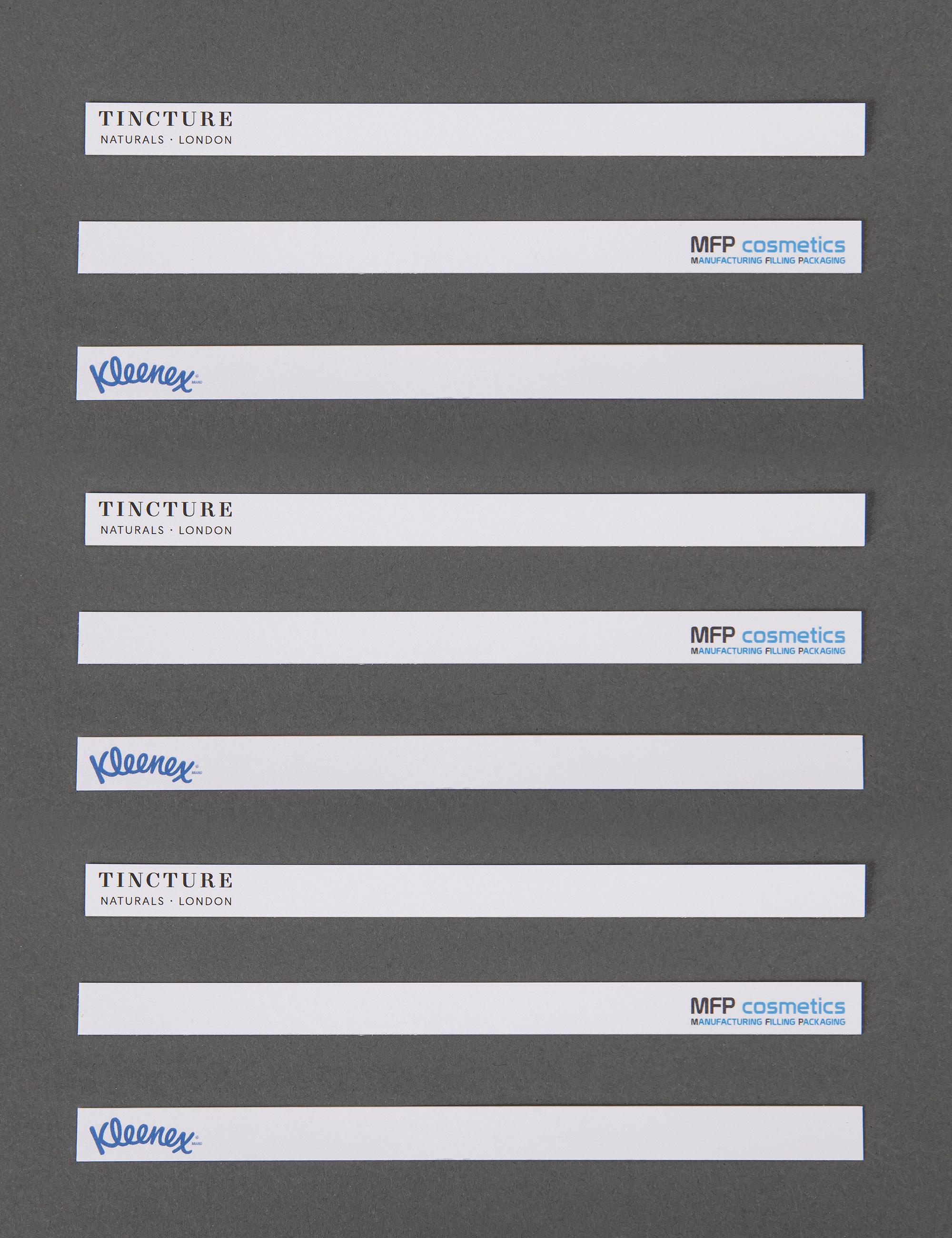 Branded 8 x 150 mm Strips